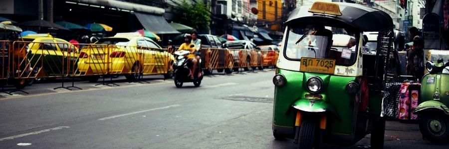 Tuk Tuk Bangkok Straße