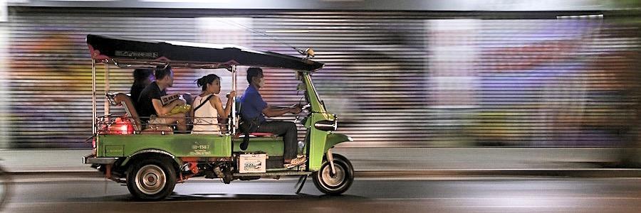 Tuk Tuk Fahrt Bangkok Thailand
