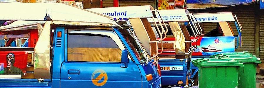Minibus und Songthaew Bangkok nach Pattaya Thalland