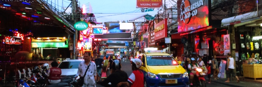 Pattaya Walking Street Abend Thailand