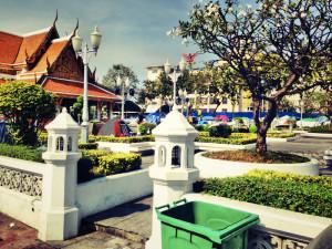 Bangkok, Thailand: In der Gegend um den Grand Palace haben Demonstranten ihre Zelte aufgeschlagen.