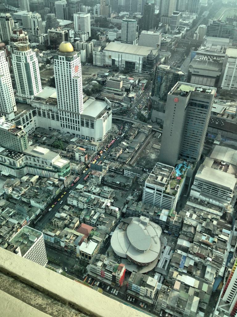 Ausblick über Bangkoks Dächer