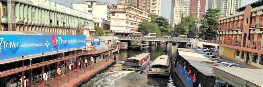 Bangkok Fluss Boote Khlong Boote Transportmittel Thailand
