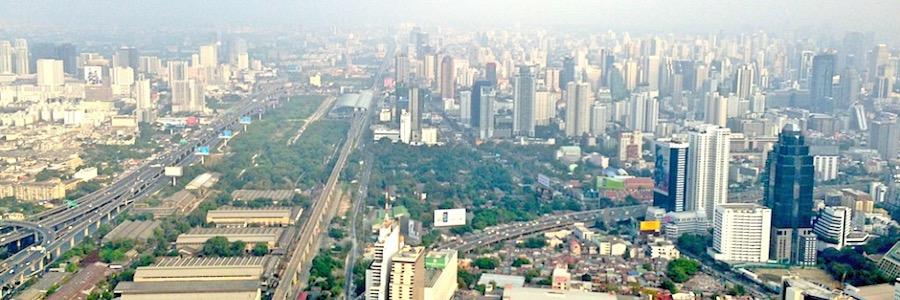 Bangkok Skyline Aussicht Baiyoke Tower