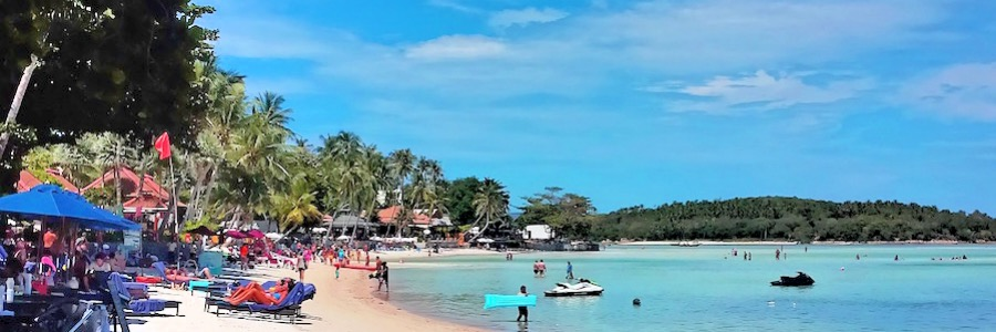 Chaweng Beach Thailand Koh Samui Reiseblog Flashpacking4life