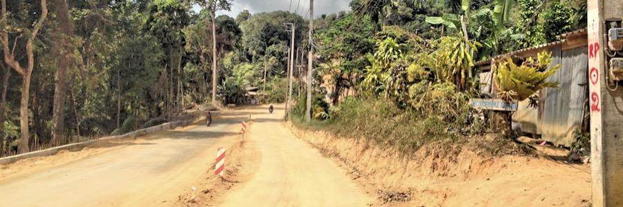 Dschungel Straße Koh Phangan Thailand