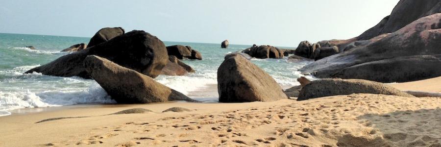 Lamai Beach Felsen Koh Samui Thailand