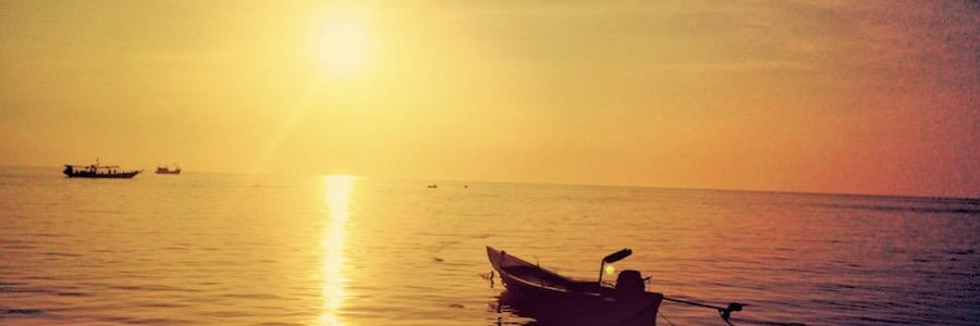 Sunset Beach Koh Phangan Thailand