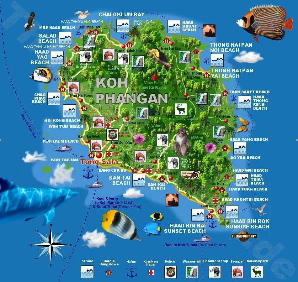 Karte Koh Phangan Quelle: http://www.thailand-ticket.de