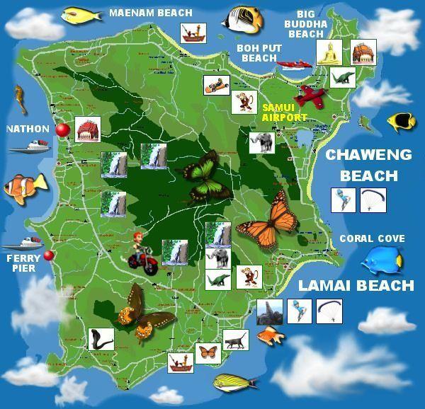 Karte Koh Samui Quelle: http://www.thailand-ticket.de