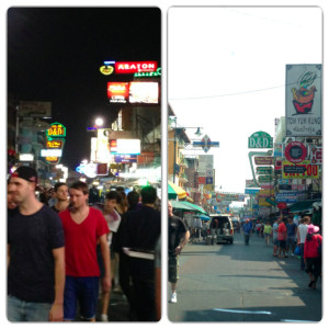 Khao San Day and Night