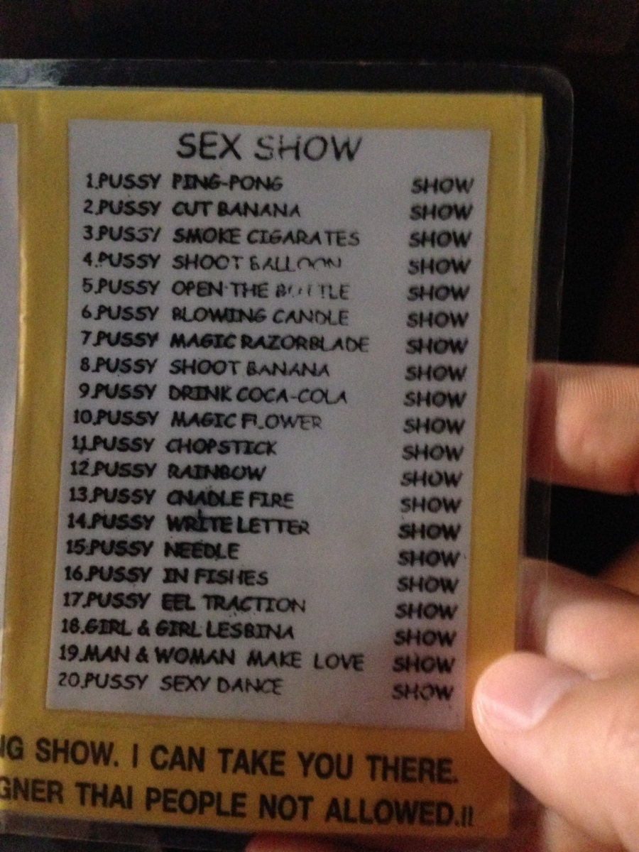 Ping Pong Show Programm