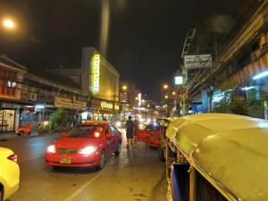 Taxi Bangkok Signalzeichen