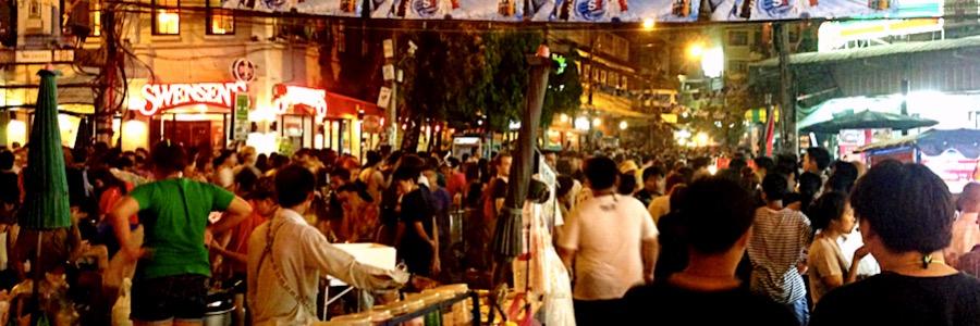 Khao San Area Songkran Thailand Bangkok