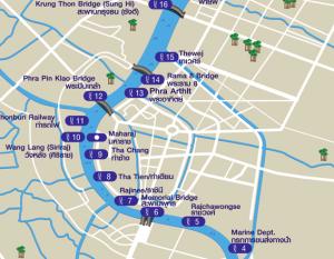 Khao San Road Phra Arthit Station Expressboot Karte