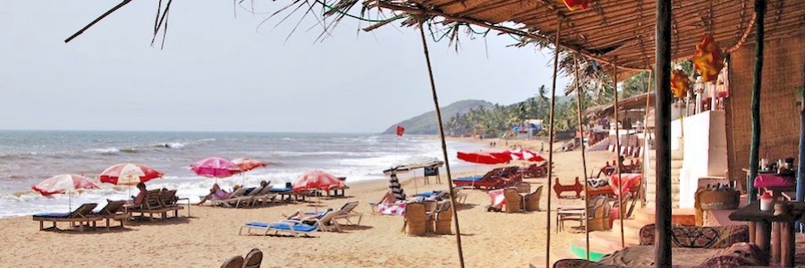 Aruja Beach Hippie Trail Goa Indien Backpacking Route