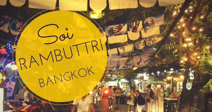 Soi Rambuttri Bangkok - Khao San Road in klein