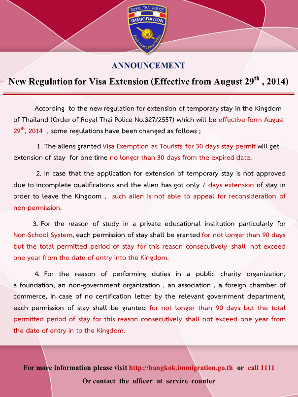 Visa Rules Thailand