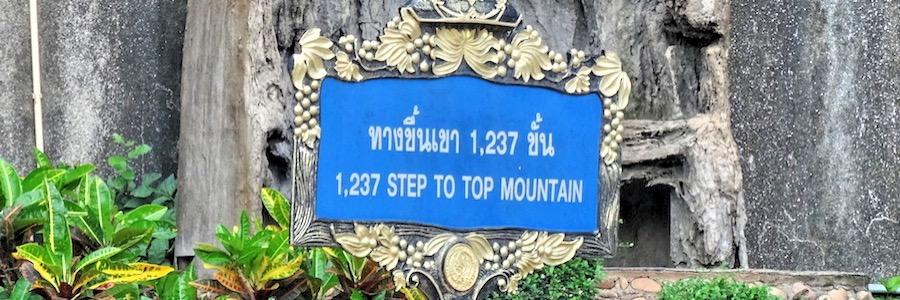 1237 Stufen auf den Tiger Cave Berg Krabi