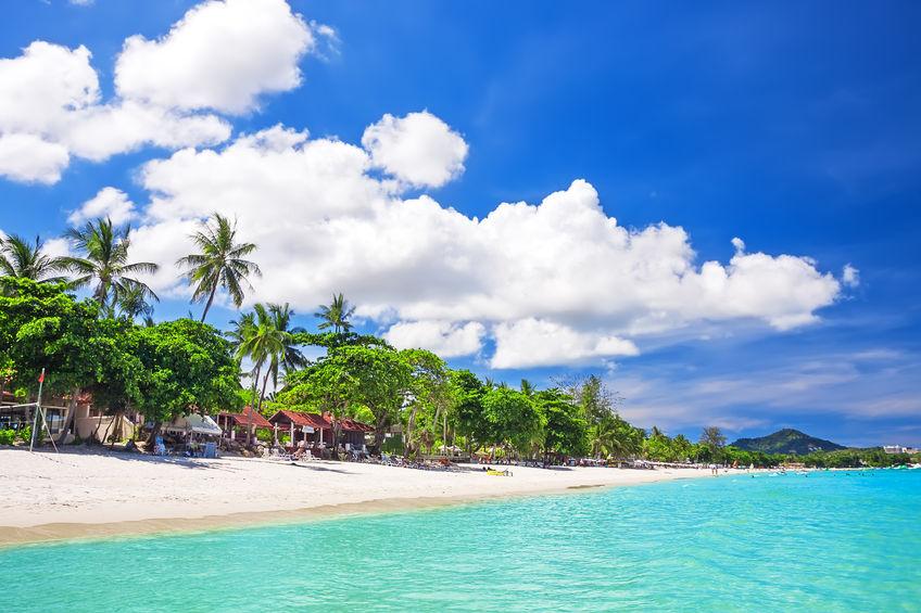 Chaweng Beach Koh Samui Day Strand Reiseblog Flashpacking4life