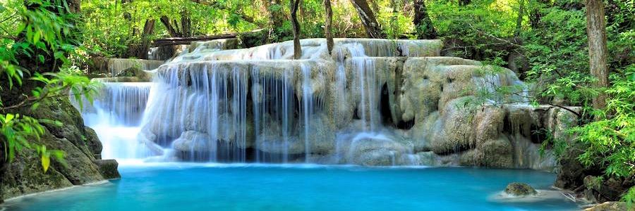Erawan Wasserfall Kanchanaburi Thailand