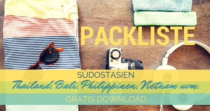Packliste Thailand / Südostasien-Reisecheckliste Urlaub