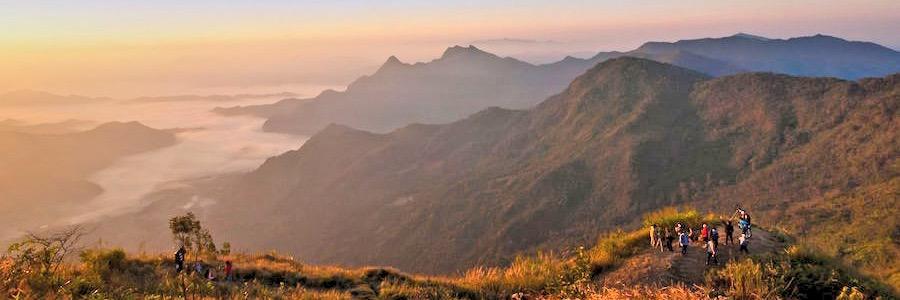 Phu Chi Fa Chiang Rai Thailand Sonnenaufgang