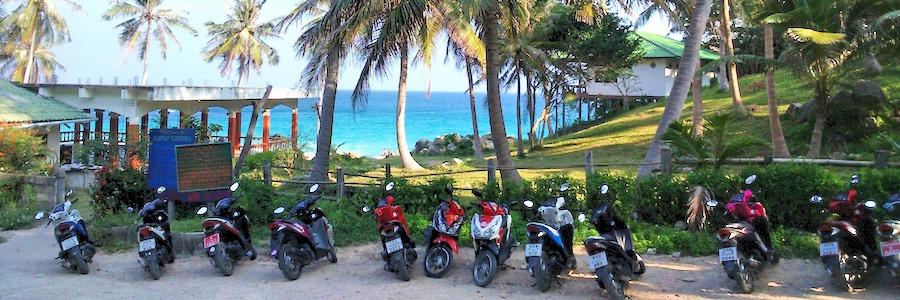 Motorroller Koh Tao Aow Luk Bay