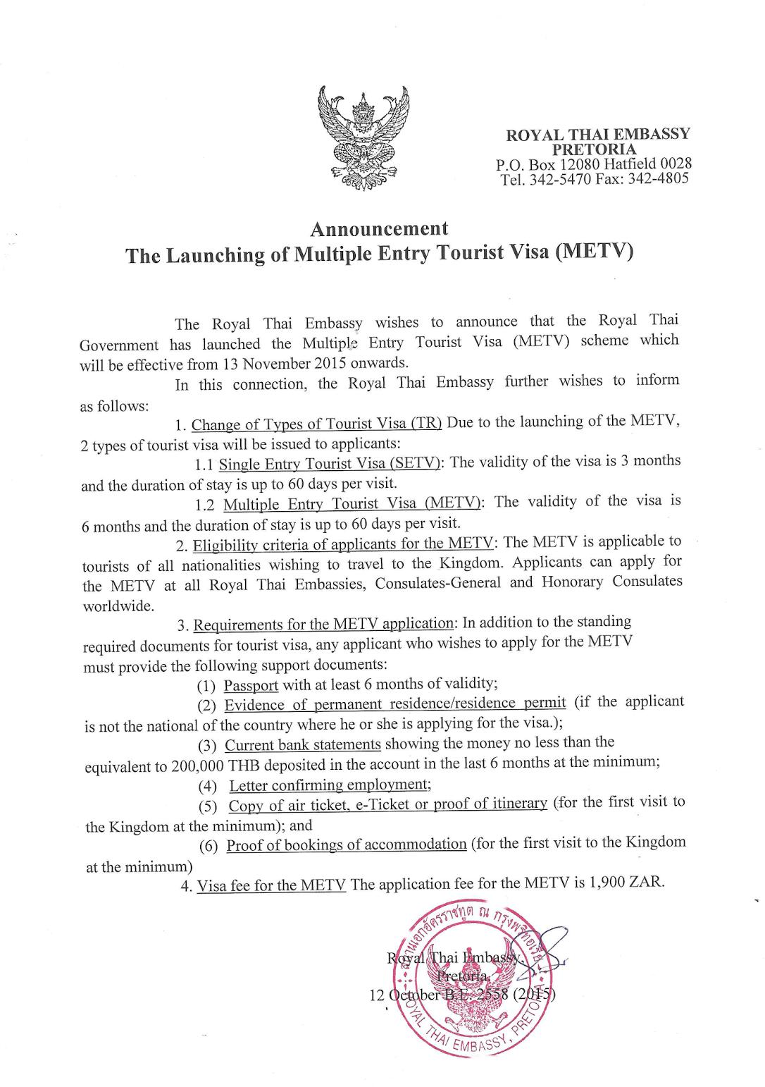 Anforderungen 6 Monatsvisum Thailand