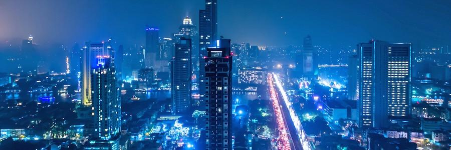 Bangkok Sukhumvit Road Night Sehenswürdigkeit