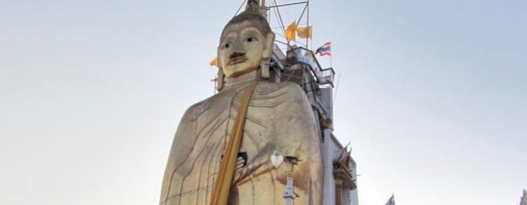 Big Standing Buddha Wat Intharawihan Bangkok