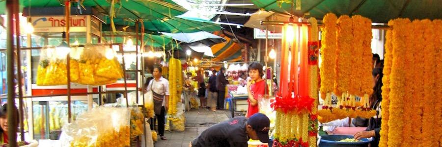 Flowermarket Bangkok Sehenswürdigkeiten