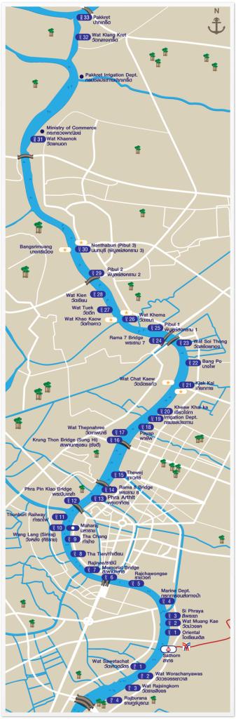 Flussboot Map Bangkok