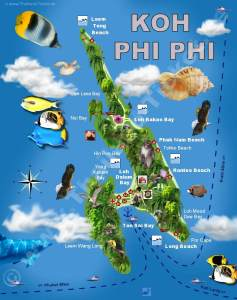 Koh Phi Phi Map Nachleben Koh Phi Phi