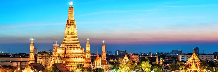 Wat Arun Bangok Sonnenuntergang Sehenswürdigkeit