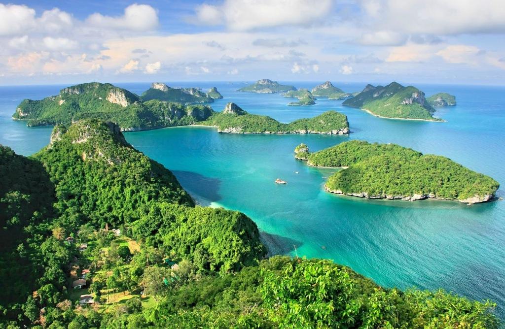Ang Thong Nationalpark Thailand Luftbild