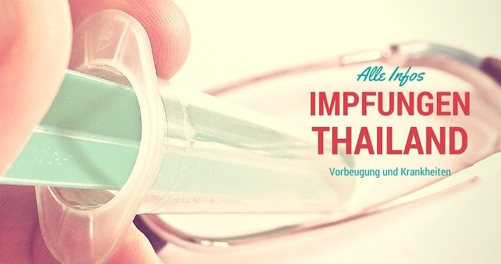 Impfungen Thailand