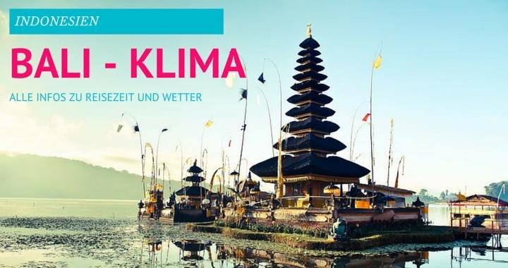 Bali Klima und Wetter