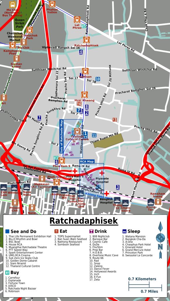 Ratchadaphisek-map-Nachtleben Bangkok