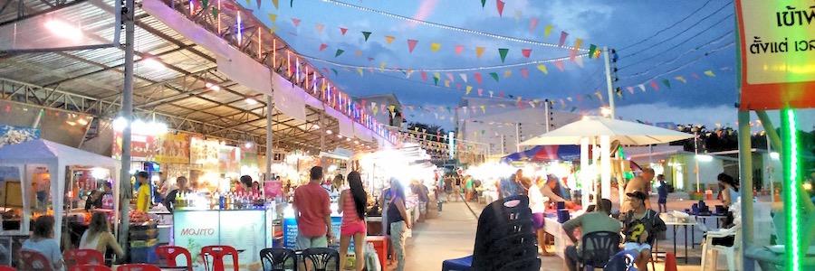 Chaweng Beach Nachtmarkt Samui