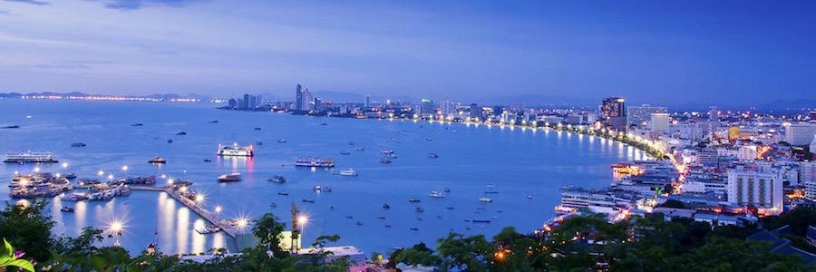 Pattaya Bay Sonnenuntergang Nachtleben