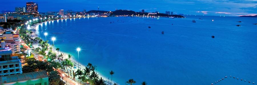 Pattaya Bucht Beach Road Nachtleben