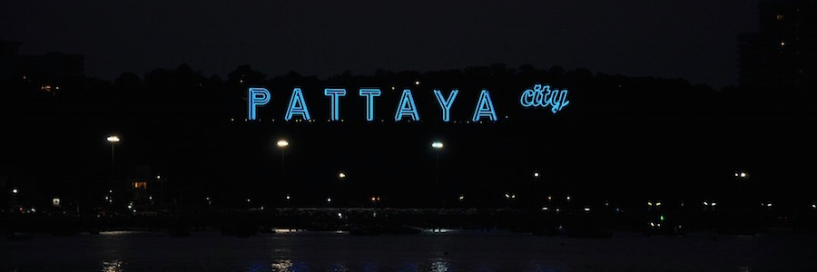Pattaya City Nightlife Schriftzug Bucht