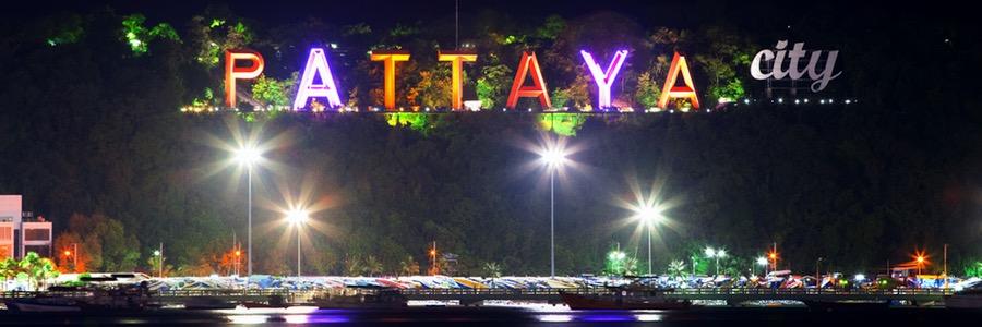 Pattaya City Schriftzug Thailand
