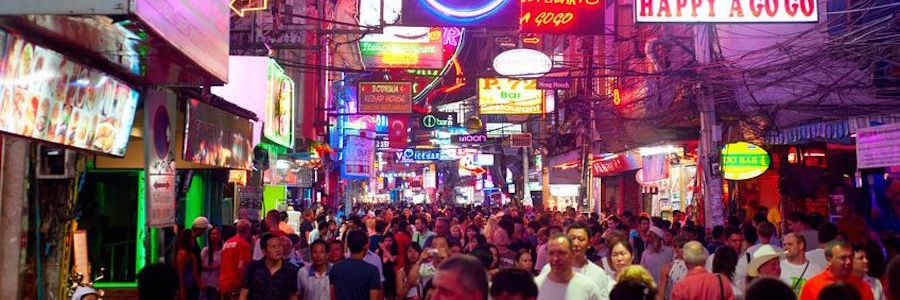 Pattaya Wakling Street Nachtleben