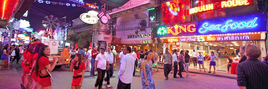 Pattaya Walking Street Nachtleben Clubs Bars