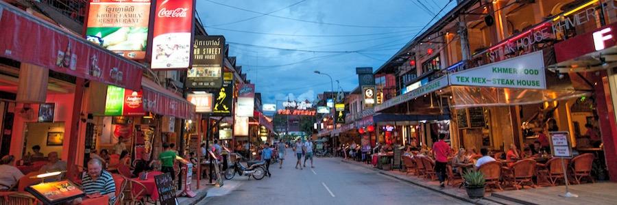 Pub Street Siem Reap Abend