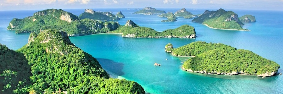 Ang Thong Nationalpark Thailand Luftbild Koh Samui