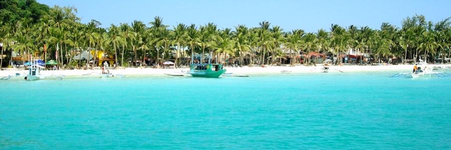 Boracay Strand Philippinen Sonnenschein