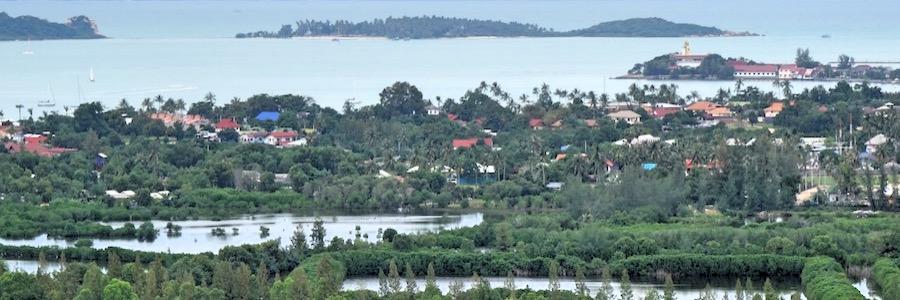 Chaweng Aussicht Koh Samui Lake Pagoda Sehenswürdigkeiten